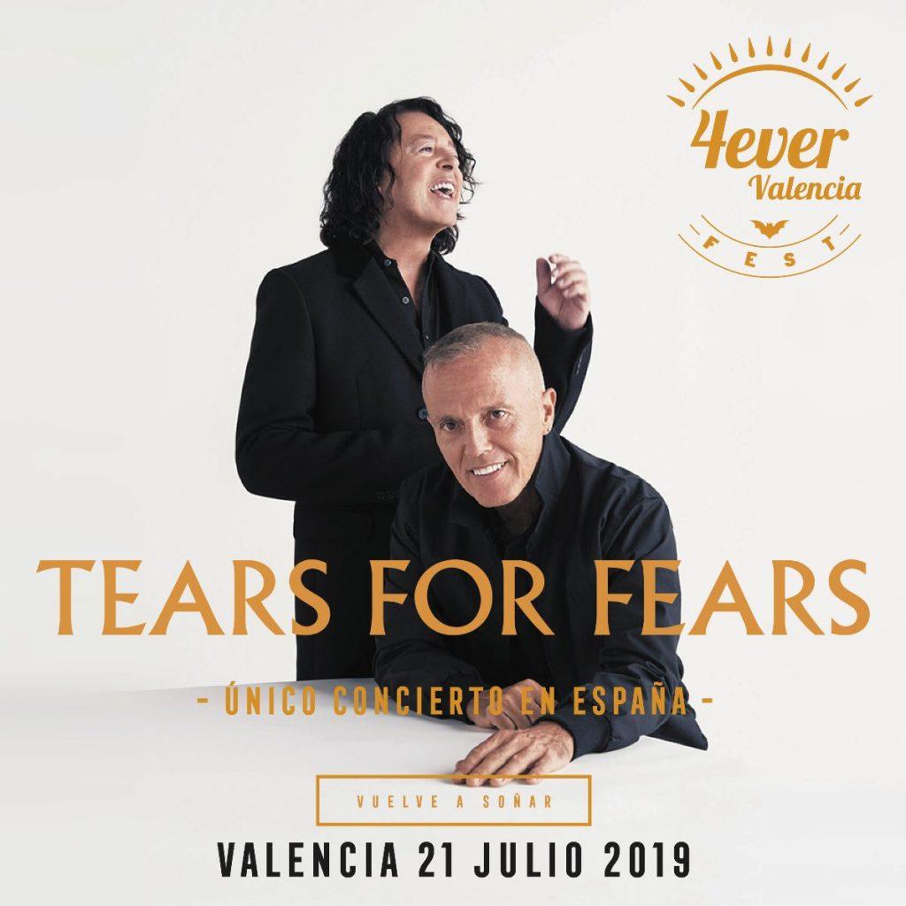 Tears for fears, cabeza de cartel para el 4EVER Valencia Fest 2019