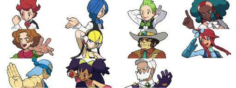 Líderes de gimnasio de Pokémon Blanco y Negro