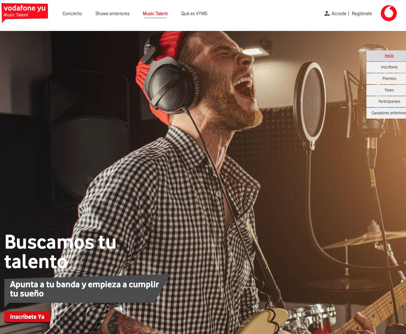 Abierta la inscripción para Vodafone yu Music Talent