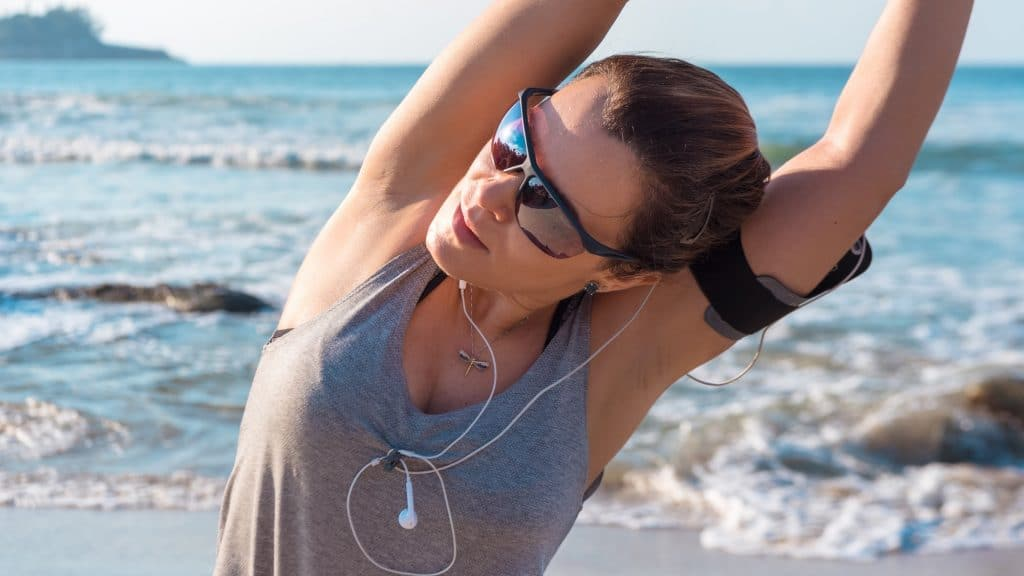 Exercising in the summer is much more motivating.